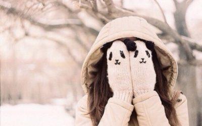 Zilver handschoenen werken tegen koude handen
